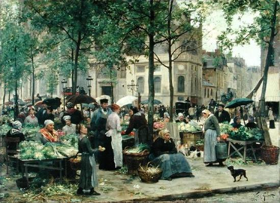 The Square in front of Les Halles, 1880