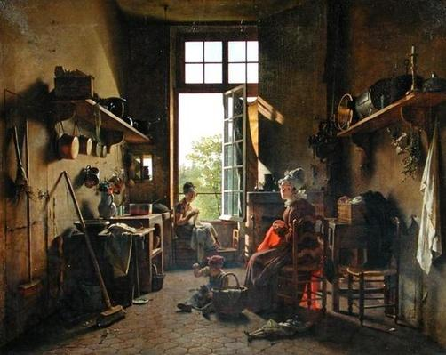 Interior of a Kitchen, 1815