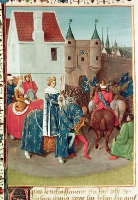 Ms Fr 6465 f.378v Entry into Paris of King Jean II