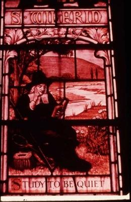 Window depicting Isaak Walton