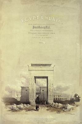 Great Gateway leading to the Temple of Karnak, titlepage to 'Egypt and Nubia', lithograph by Louis Haghe, published 1849