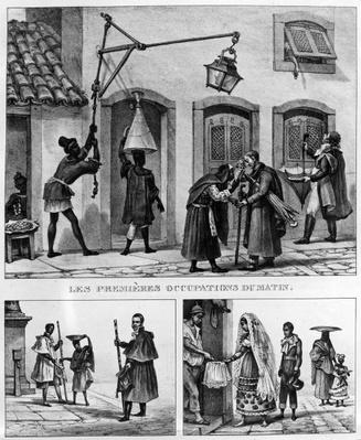 Daily Life in Brazil, from 'Travels in Brazil', lithographed by Thierry Freres, 1839