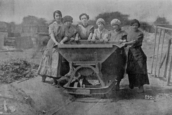 Women Transporting Refuse. War Office photography, 1916