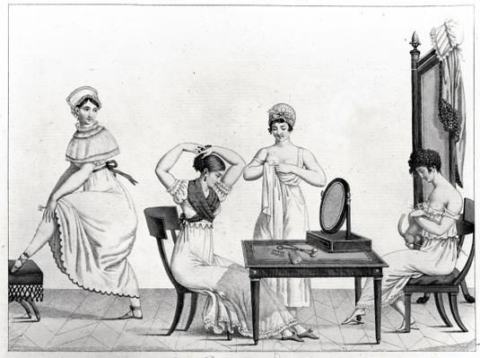 The Grisettes Rise, Plate 29 from 'Le Bon Genre', 1802-12,