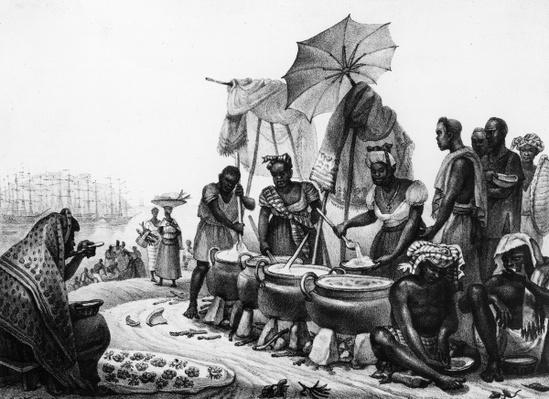 Black Women selling Angou, from 'Travels in Brazil', engraved by Thierry Freres