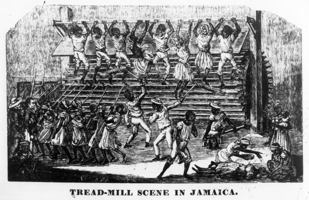 Tread-mill scene in Jamaica, 1837