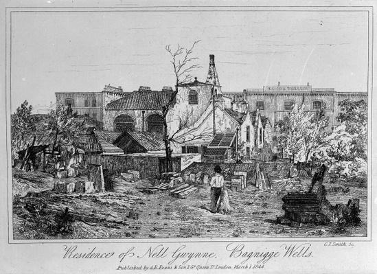 Residence of Nell Gwynne, Bagnigge Wells, published in 1844