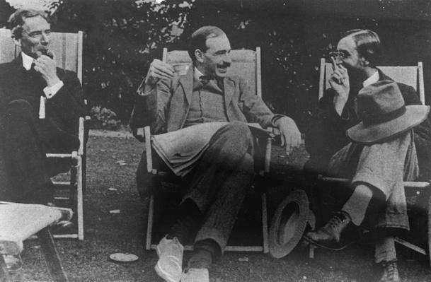Bertrand Russell, J. M. Keynes and Lytton Strachey, c.1917
