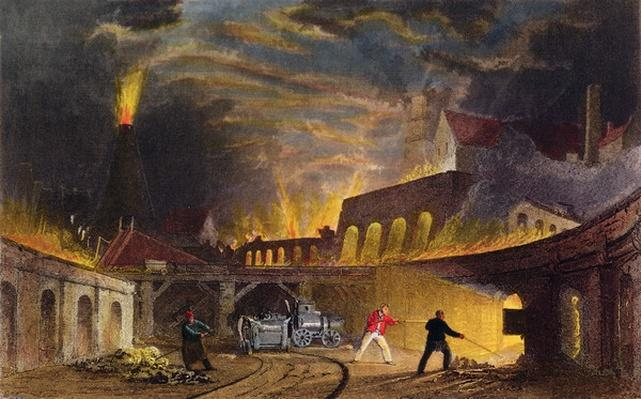 Lymington Iron Works on the Tyne, 1835