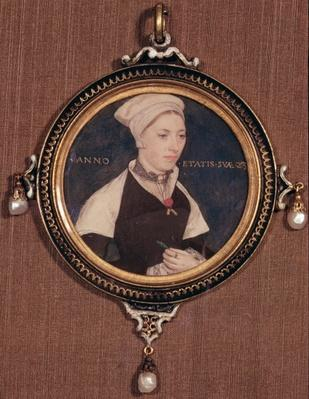 Miniature portrait of Jane Small, formerly known as Mrs. Robert Pemberton, c.1540