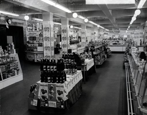 Interior of a Woolworths store, 1956