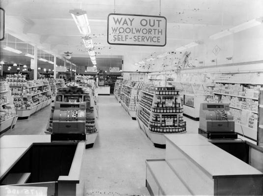 Tills, Woolworths store, 1956
