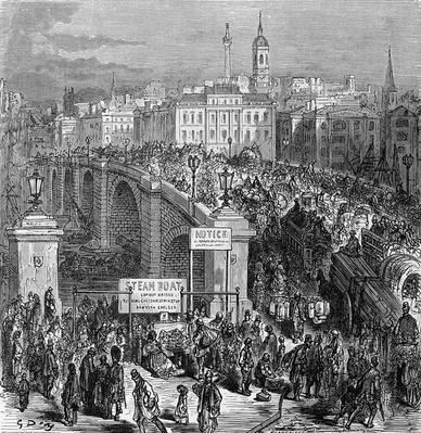 London Bridge, engraved by Stephane Pannemaker, 1875
