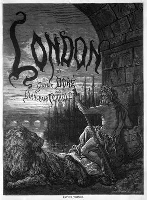Titlepage to 'London' by Gustave Dore and Blanchard Jerrold, engraved by Stephane Pannemaker, 1872