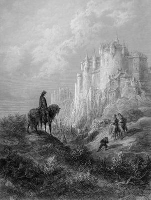 Camelot, illustration from 'Idylls of the King' by Alfred Tennyson