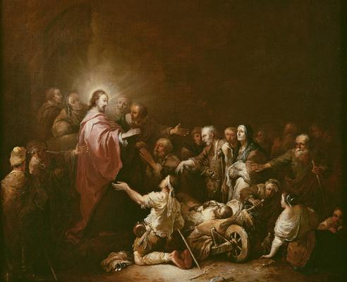 Jesus Blessing the Sick
