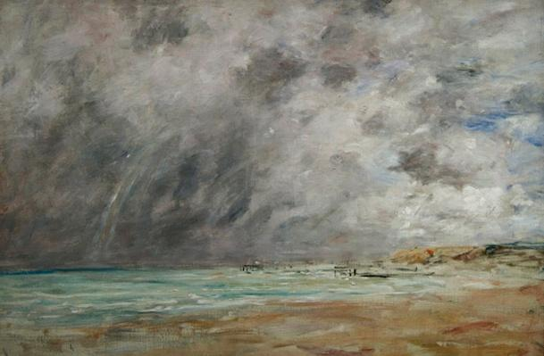 Stormy skies over the estuary at Le Havre, c.1892-96