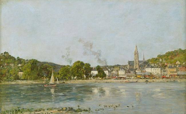 The Seine at Caudebec-en-Caux, 1889