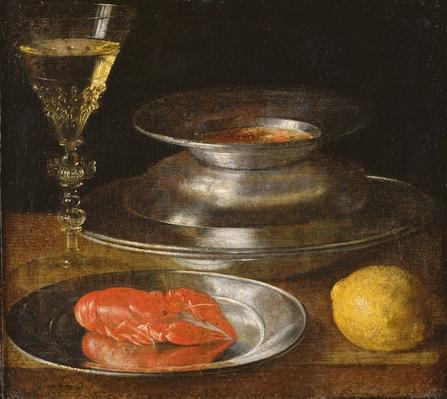 Still life with lobster, c.1630
