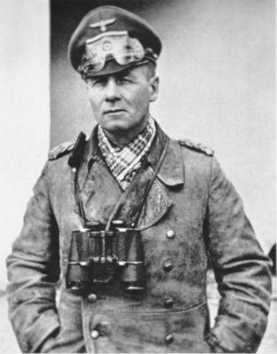 Erwin Rommel in typical desert dress of the North African campaign, c.1941