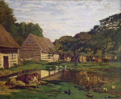 A Farmyard in Normandy, c.1863