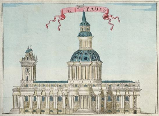 St. Paul's Cathedral, from 'A Book of the Prospects of the Remarkable Places in and about the City of London', c.1700