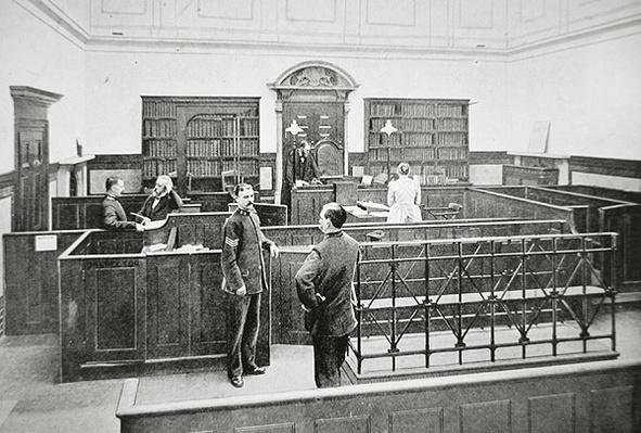 Bow Street Police Court, London, in the 1890s