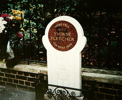 Memorial to Woman Police Constable Yvonne Fletcher