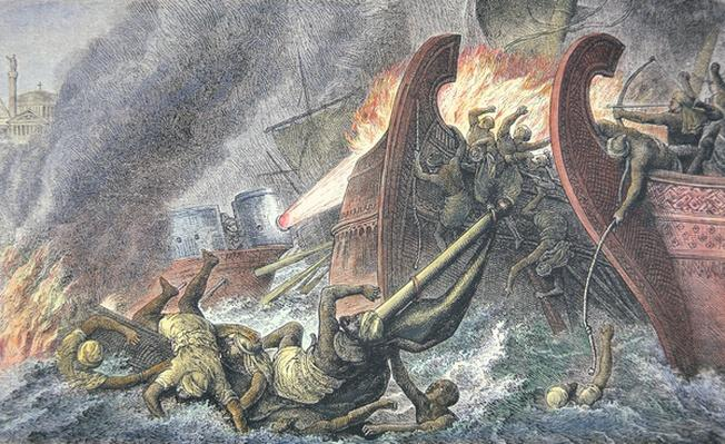 Ships Destroyed by Greek Fire