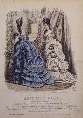 Fashion plate from 'Le Moniteur de la Mode'