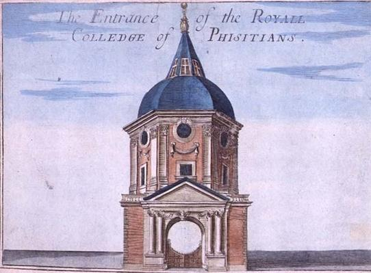 The Entrance to the Royal College of Physicians, from 'A Book of the Prospects of the Remarkable Places in and about the City of London', c.1700