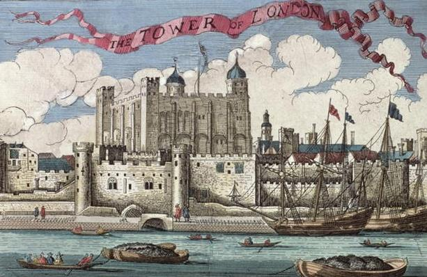 Tower of London Seen from the River Thames, from 'A Book of the Prospects of the Remarkable Places in and about the City of London', c.1700
