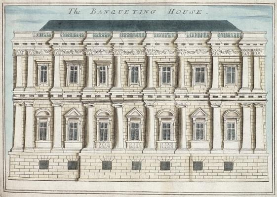 Banqueting House, Whitehall, from 'A Book of the Prospects of the Remarkable Places in and about the City of London', c.1700
