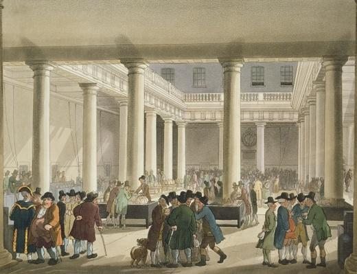 The Corn Exchange from Ackermann's 'Microcosm of London', 1808