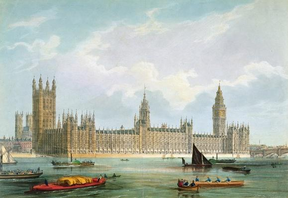 The New Houses of Parliament, engraved by Thomas Picken published by Lloyd Bros. & Co., 1852