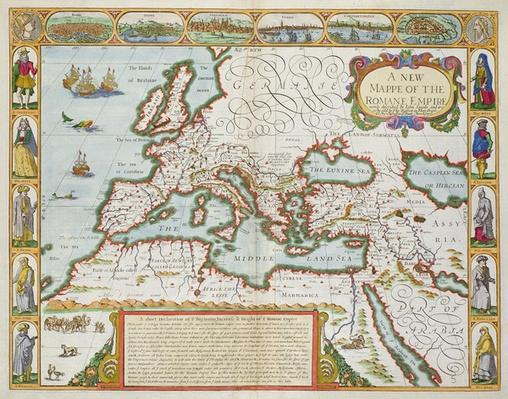 A New Map of the Roman Empire, from 'A Prospect of the Most Famous Parts of the World', pub. by Bassett & Chiswell, 1676
