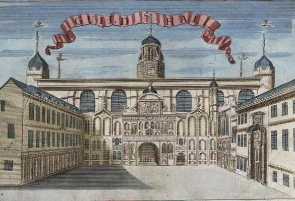 Guildhall, from 'A Book of the Prospects of the Remarkable Places in and about the City of London', c.1700