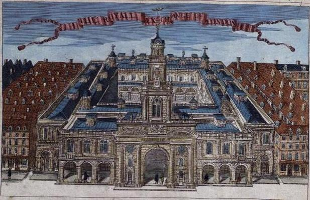 Royal Exchange from 'A Book of the Prospects of the Remarkable Places in and about the City of London' c.1700
