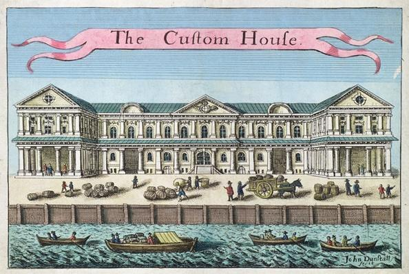 Customs House, from 'A Book of the Prospects of the Remarkable Places in and about the City of London', c.1700