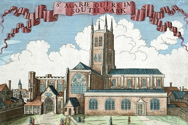 St. Marie Overie in Southwark, from 'A Book of the Prospects of the Remarkable Places in and about the City of London', c.1700