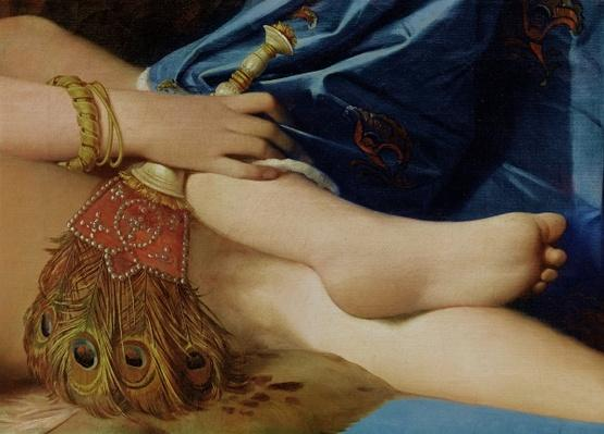 Detail of The Grand Odalisque, 1814