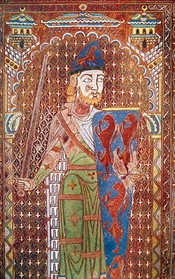 Detail of the tomb plaque of Geoffrey Plantagenet, c.1151-55