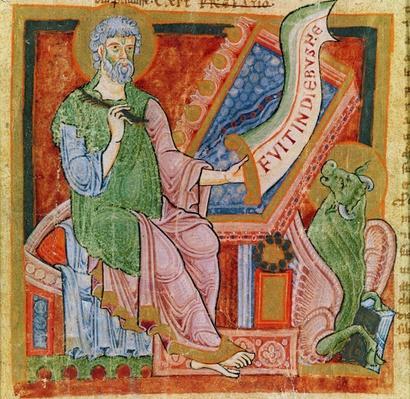 St. Luke the Evangelist, 1120 by French School, (12th century)