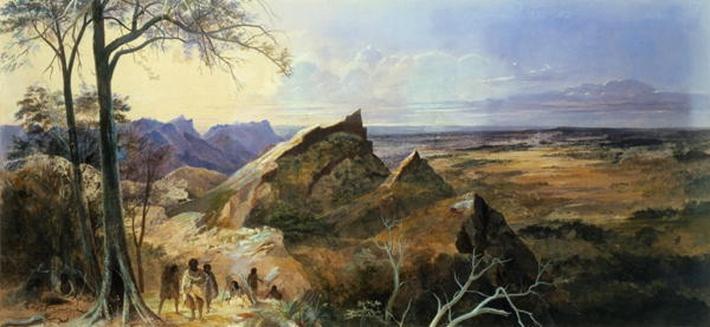 Aborigines in an Australian Landscape