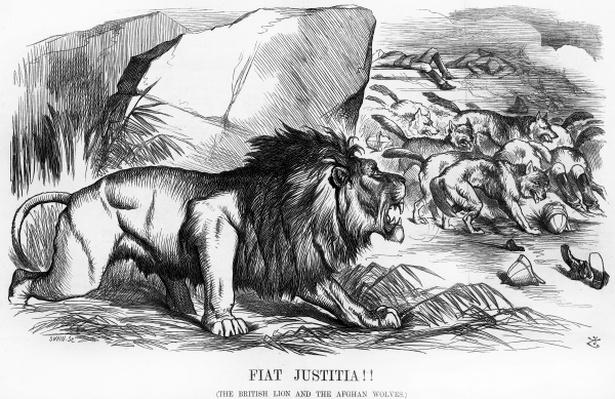 Fiat Justitia! The British Lion and the Afghan Wolves, cartoon from 'Punch' Magazine, 20th September 1879