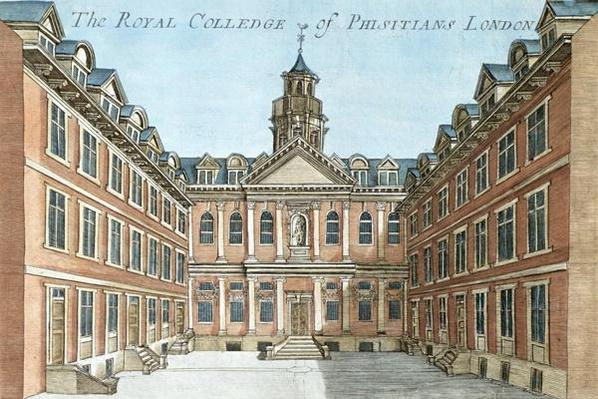 The Royal College of Physicians, from 'A Book of the Prospects of the Remarkable Places in and About London', c.1700