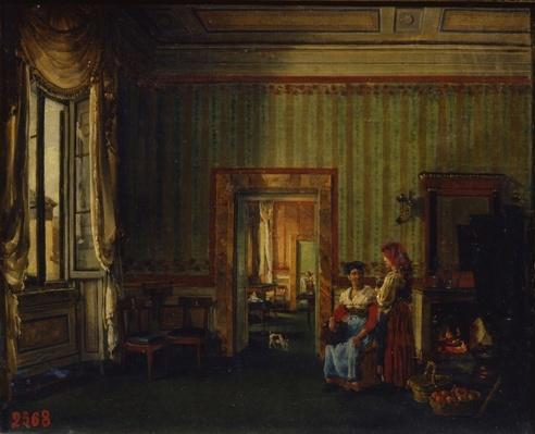 Interior in the House of Prince Alexander Golitsyn in Rome, 1830