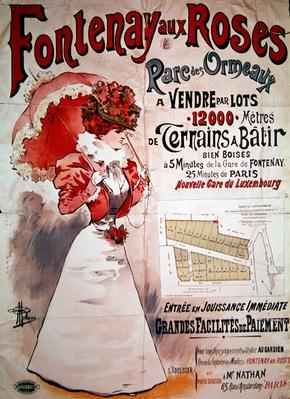 Poster advertising allotments in the Parc des Ormeaux, Fontenay-aux-Roses