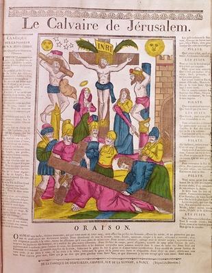 Calvary in Jerusalem, published by La Fabrique de Desfeuilles, Nancy