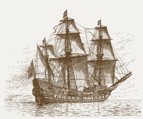 The Swedish flagship Mars, before the Battle of Gotland-Oland
